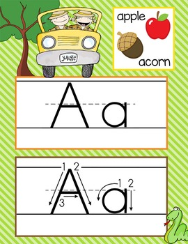 SAFARI - Alphabet Cards, Handwriting, ABC Flash Cards, ABC