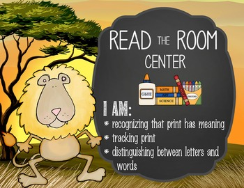 SAFARI - Classroom Decor: Center Signs, student cards