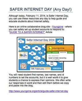 SAFER INTERNET DAY (Any Day): GRADES 5-8