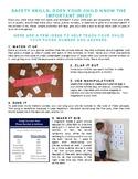 SAFETY SKILLS parent handout