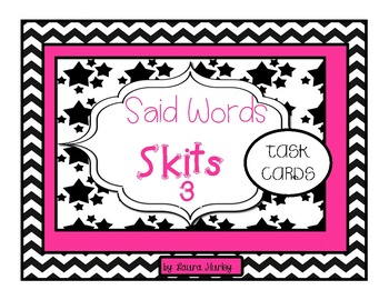 Vocabulary Task Cards: Said Words Dialogue Tags Set 3