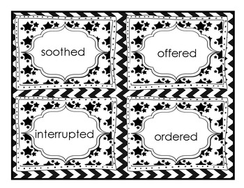 Vocabulary Task Cards: Said Words Dialogue Tags Set 1