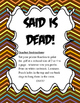 Jubilee's Junction - SAID is DEAD! 97pc SET 'DEAD WORDS' TOMBSTONE Cards!