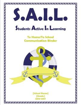 SAIL Student Binder Cover [Editable]