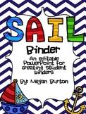 SAIL (Student's Adventures In Learning) Editable Student Binder