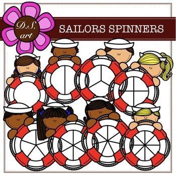 SAILORS SPINNERS Digital Clipart (color and black&white)