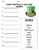 SAINT PATRICK'S DAY ABC ORDER