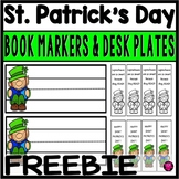 Saint Patrick's Day Book Markers and Desk Plates