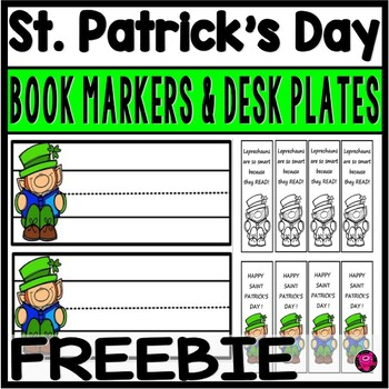 https://www.teacherspayteachers.com/Product/Saint-Patricks-Day-FREEBIE-Book-Markers-and-Desk-Plates-2419197