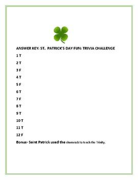 SAINT PATRICK'S DAY FUN: TRIVIA CHALLENGE