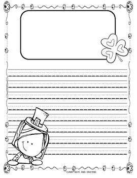 SAINT PATRICK'S DAY ~ FUN WRITING PAPER