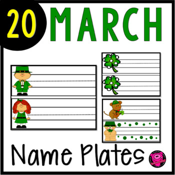 SAINT PATRICK'S DAY NAME PLATES and WORD WALL CARDS