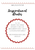 SAINT VALENTINE : INSPIRATIONAL QUOTES