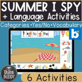 Summer I Spy and Language Activities BOOM Cards No Print S