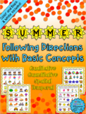 Summer Following Directions with Basic Concepts - Distance