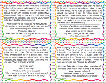 Inferencing Task Cards: Summer Edition