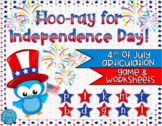 SALE 50% OFF Hoo-ray for Independence Day: 4th of July Art