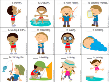 Talking about Camping: Low Prep Language Activities