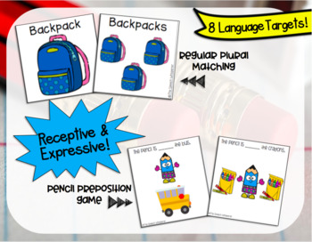 Language Activities for Back to School