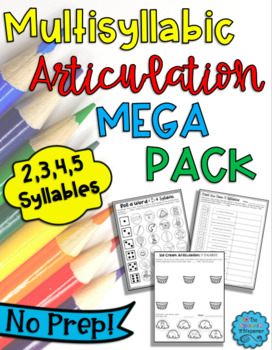 Multisyllabic Articulation Mega Pack