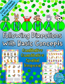 Animal Following Directions with Basic Concepts