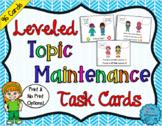 Leveled Topic Maintenance Task Cards