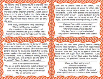 Inferencing Task Cards: Fall Edition