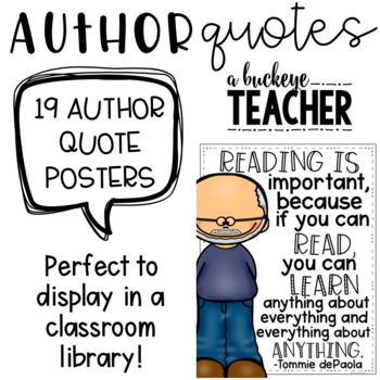 Author Quote Posters