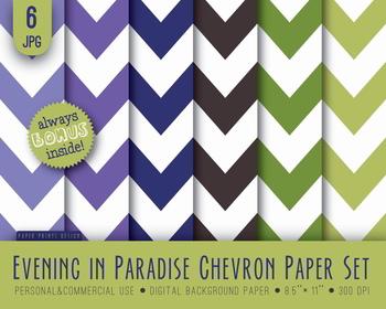 Background Chevron Paper Digital Scrapbooking Multicolored