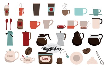 SALE- Coffee Clipart for Commercial Use