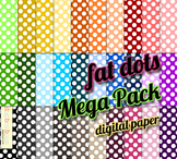 SALE- Fat Polka Dots Digital Backgrounds
