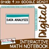 Fourth Grade DIGITAL Math Interactive Notebook: Data Analy