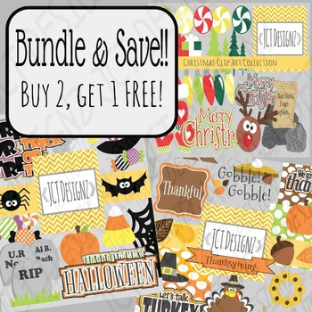 sale holiday clipart bundle halloween thanksgiving christmas clipart - Halloween Thanksgiving Christmas