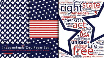 Independence day paper, 4th of july paper, memorial day paper, patriotic