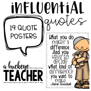 Influential People Quote Posters