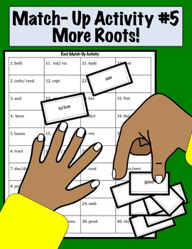 Match Up Activity #5 More ROOTS  Set 2