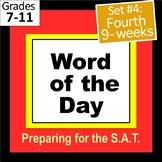 SET 4 Word of the Day PPT and Task Cards