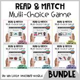 Short Vowel CVC Sentence Read & Match Boom Card Bundle | Distance Learning