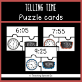 Telling Time Puzzle Cards