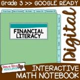 Third Grade DIGITAL Math Interactive Notebook: Personal Fi