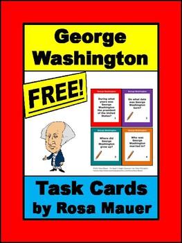 Free George Washington Task Cards