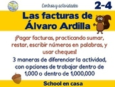 Álvaro paga facturas | Addition, Subtraction, & Place Value w/ 3 Levels