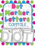 Dot Marker Letters- Capitals