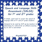 SALSA: Speech & Language Skills Assessment (1st & 2nd grade version)