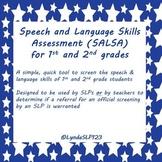 SALSA: Speech & Language Skills Assessment (1st & 2nd grad