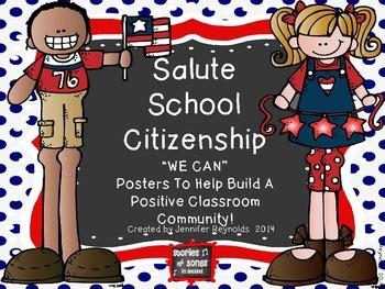 Classroom Behavior-Social Skills Poster Pack--A Salute to Citizenship