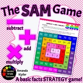 SAM: Subtract, Add, Multiply Basic Facts Game
