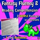 SAMPLE 2 Fantasy Reading Comprehension Passages + 2 Fun Audio Books