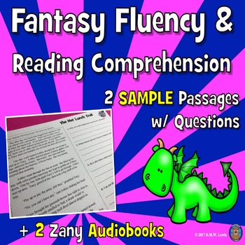 SAMPLE 2 Fantasy Reading Comprehension Passages + 2 Fun Audiobooks