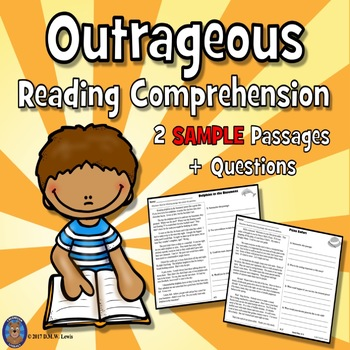 SAMPLE 2 Outrageous Reading Comprehension Passages: Fall Reading FUN